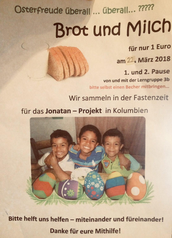 Brot und Milch – 200 Euro für Jonatan